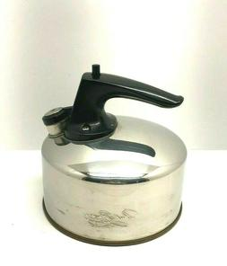 Vintage Paul Revere Ware Stainless 1 Quart Whistling Tea Ket