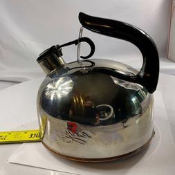Vintage Paul Revere Ware Whistling Tea Kettle Copper Bottom