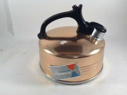 Vintage Retro Alcoa Aluminum Tea Kettle Copper Color 2-1/2 Q
