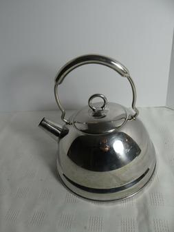 vintage stainless tea kettle made in korea