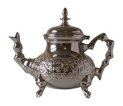 Vintage Styled Handmade Moroccan Silver Plated Teapot with B