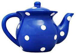 "Viva Collection, Blue, Polka Dot Teapot 6""H, 84217BL OR 8211"