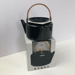 Vtg Black Enamel Copco Heritage Series 2 Quart Tea Kettle w/