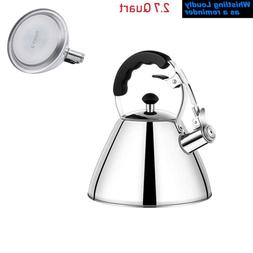 Whisting Tea Kettle Stainless Steel Audible Whistle Teapot f