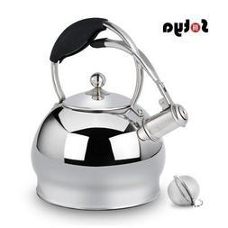 Sotya whistling silver stainless steel tea kettle teapot sto