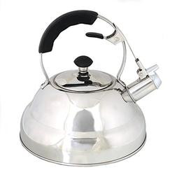 Whistling Stove Top Kettle Teapot with Layered Capsule Botto