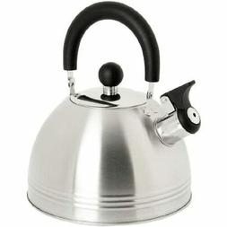 Whistling Tea Kettle 1.5-Quart Stainless Steel Safe Easy Pou