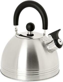 Whistling Tea Kettle 1.5-Quart Stainless Steel Safe Easy Pou