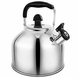 Whistling Tea Kettle, 3.7L Stove TopTeapot Stainless Steel T