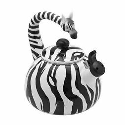 Supreme Housewares Whistling Tea Kettle, Zebra