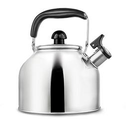 Whistling Tea Kettle - Surgical Stainless Steel Teapot for S