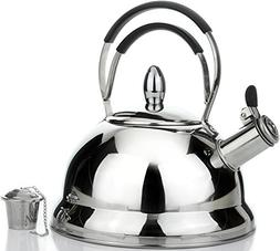 Whistling Tea Kettle with RAPID BOIL Technology - Stove Top