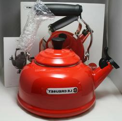 Le Creuset Whistling Tea Kettle Chili Red Color 1.6 L / 1.7
