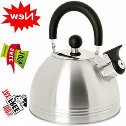 Whistling Tea Kettle Coffee Tea Maker 1.5 Quart Stainless St