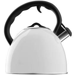 Whistling Tea Kettle for Stovetop - 2 Quart Tea Pot Stainles