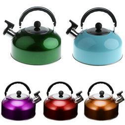 Whistling Tea Kettle Hot Water Pot for Camping Fishing Carav