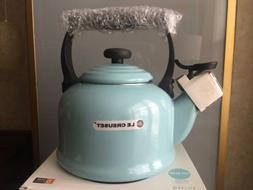 Le Creuset Whistling Tea Kettle Pot Sky Blue Color 2.1 L / 2