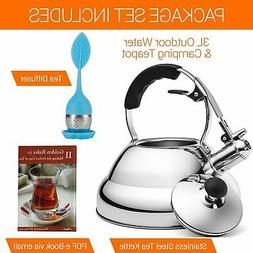 Tea Kettle for Stovetop - Whistling Teapot for Induction Sto