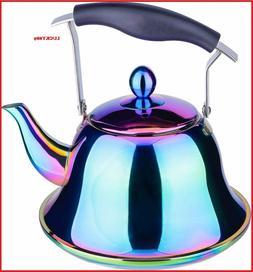 Whistling Tea Kettle Stainless Steel Stovetop Teakettle Stur