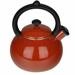 Aidea Whistling Tea Kettle Stovetop - Porcelain Enameled Ket