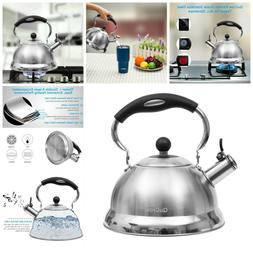 Whistling Tea Kettle Teapot Heat Proof Handle Stovetops Kett