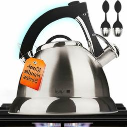 Whistling Tea Kettle with iCool - Handle, Surgical Stainless