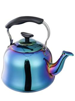 Whistling Tea Kettles Stainless Steel Teapot Rainbow Teakett