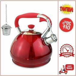 Whistling Tea Kettles Stovetop Boils Faster Bottom,Surgical