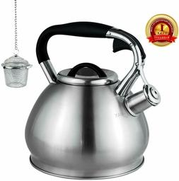 Whistling Tea Kettles Stovetop Boils Faster Bottom Surgical