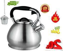 Whistling Tea Kettles Stovetop with Boils Faster Bottom,Surg