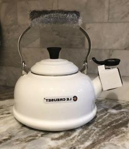 Le Creuset White 1.7-Qt - Whistling Tea Kettle Teapot