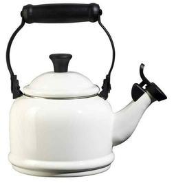 Le Creuset White Demi Tea Kettle Enameled Carbon Steel Home