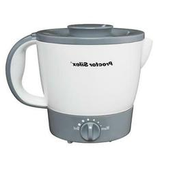 White/Gray Finish Hot Pot 32 oz. W/ Adjustable Heat Kitchen