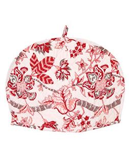 RAJRANG Cute Pink and Off White Cotton Tea Cosy - Indian Eth