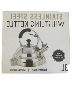 Willow & Everett 3L Stainless Steel Whistling Kettle Silicon