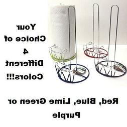 Wire Paper Towel Holder Kitchen Non Slip Stand Counter Home