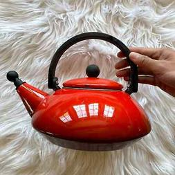 Le Creuset Zen Tea Kettle Pot 1.5L 1.6qt Red