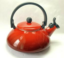 Le Creuset Zen Tea Pot Enameled Red 1.6 qt.